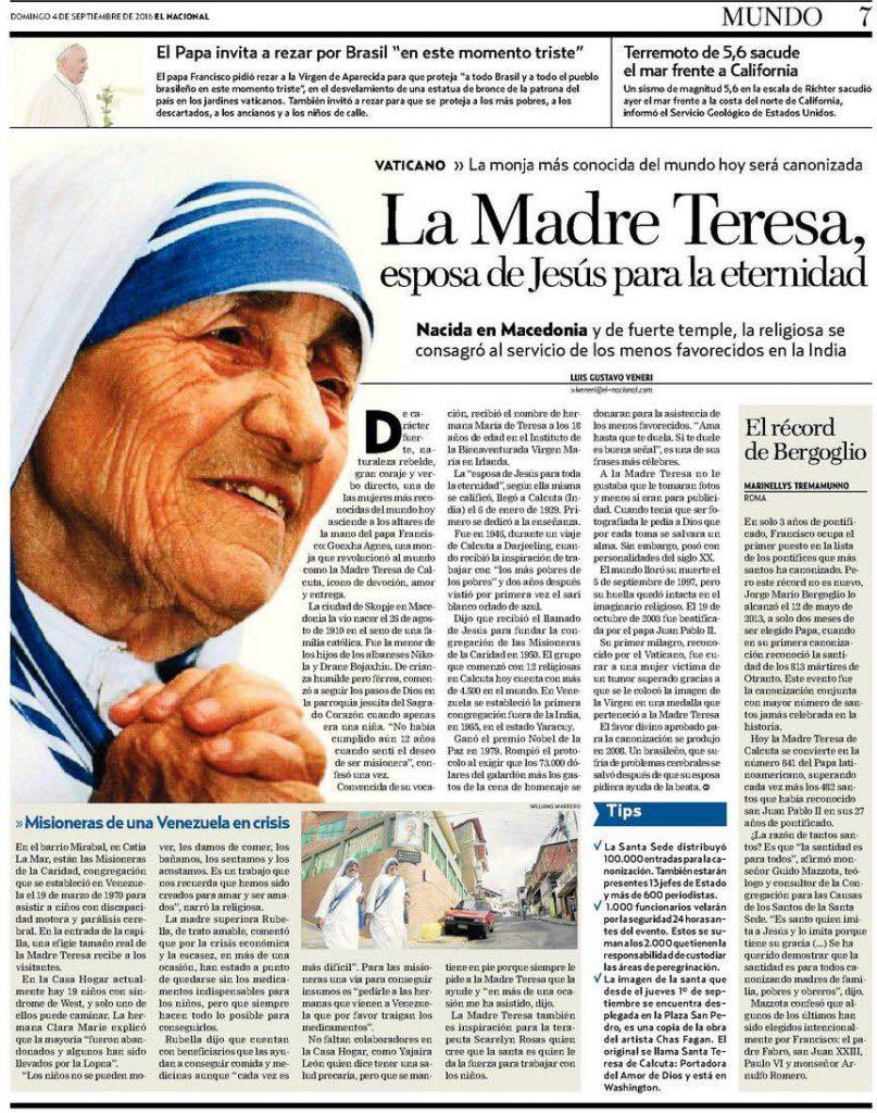 Especial Madre Teresa