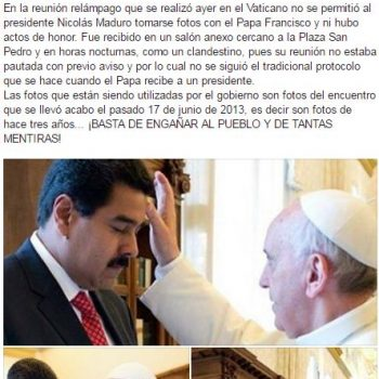 Periodista revela gran verdad sobre las fotos de Maduro